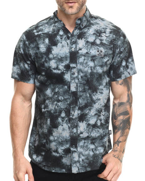 Ur-ID 216130 Ecko - Men Blue Cotton Poplin S/S Button-Down