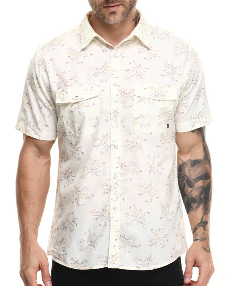 Ur-ID 216133 Brixton - Men Cream Wayne S/S Button-Down
