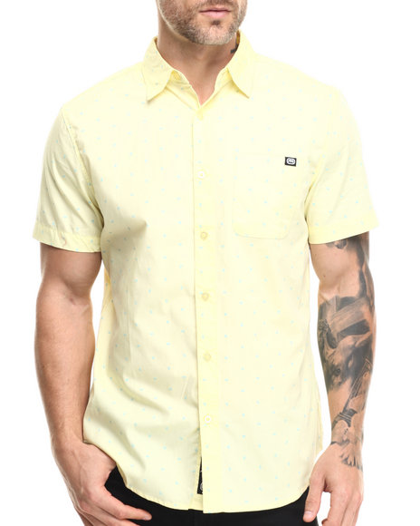 Ecko - Men Yellow Printed Oxford S/S Button-Down