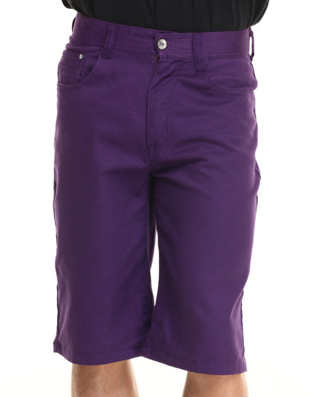 Miskeen - Men Purple Heavy Twill Color Shorts