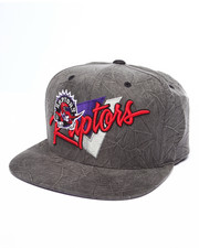 Men - Toronto Raptors Crease Ttriangle Script Snapback Hat