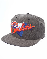 Men - Cleveland Cavaliers Crease Triangle Script Snapback Hat