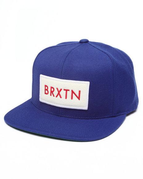 Brixton Men Rift Snapback Cap Blue