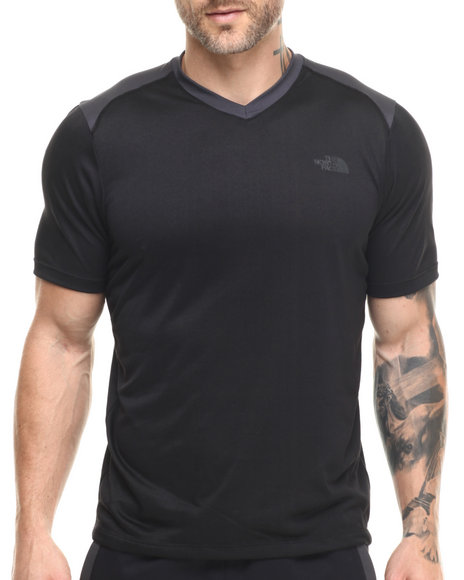 Ur-ID 216101 The North Face - Men Black Reactor S/S V-Neck Tee