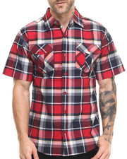 Miskeen - Double pocket plaid s/s button down shirt