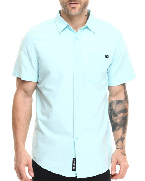 Ur-ID 216134 Ecko - Men Light Blue Oxford S/S Button-Down