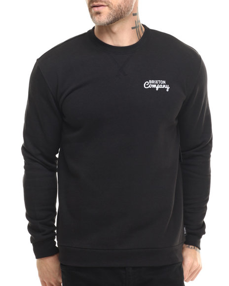 Brixton - Men Black Wanderer Crew Fleece Sweatshirt