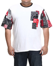 T-Shirts - Jacob Bandana Patchwork S/S Tee (B&T)