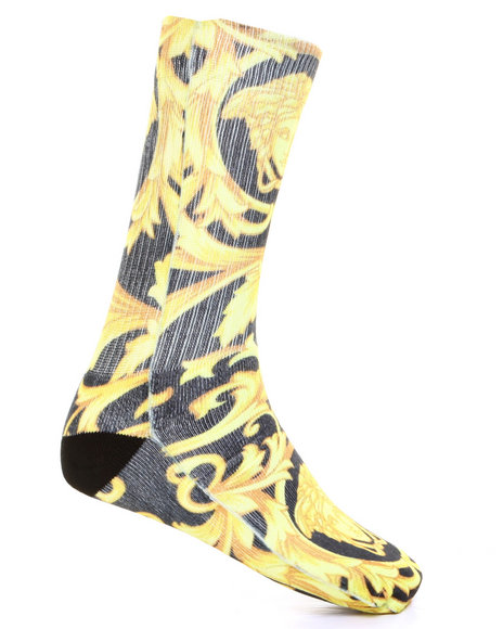 Buyers Picks - Men Multi Vintage Print Socks