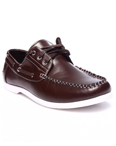 Ur-ID 216166 Buyers Picks - Men Brown Steven Tonal Boat Shoe