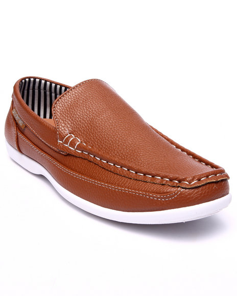 Ur-ID 216167 Akademiks - Men Tan Basic Stitched Boat Shoe