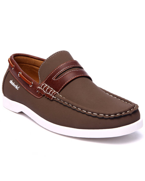 Akademiks - Men Tan Penny Strap Boat Shoe - $28.99