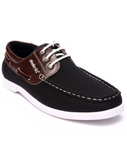 Shoes - 2-tone laced boat shoe