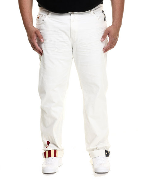 Winchester - Men Off White Denim Jean With Flag Trim Details (B&T)