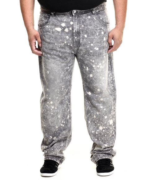 Parish - Men Grey Bleach Splatter Denim (B&T)