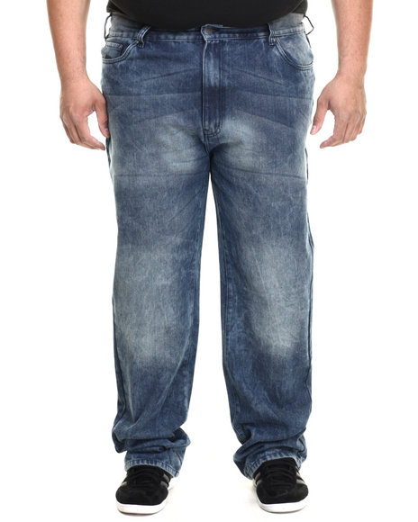 Ur-ID 216092 Ecko - Men Dark Wash 72 Flap Denim Jean (B&T)