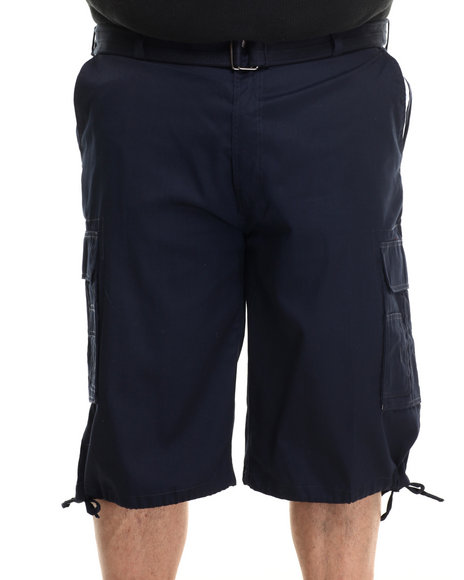 Buyers Picks - Men Navy Core Twill Belted Cargo Shorts (B&T)
