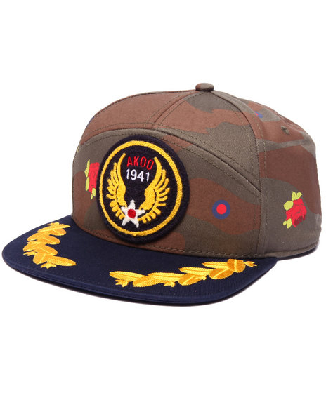 Akoo Men D Day Snapback Cap Camo 1SZ