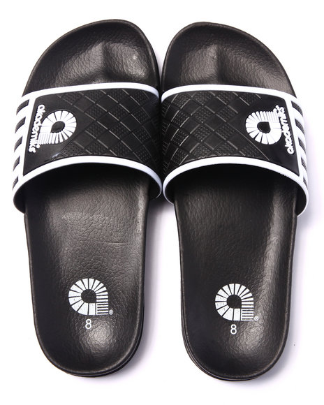 Ur-ID 216180 Akademiks - Men White Academics Mix Sport Slide Sandals