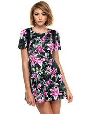 Joyrich - optical garden player dress