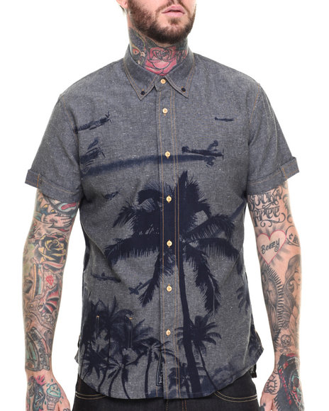 AKOO - Men Blue Pacific Theater Button-Down