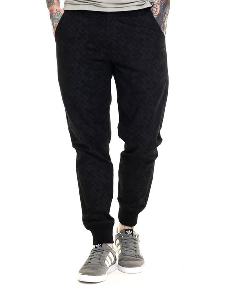 Ur-ID 216281 Pink Dolphin - Men Black Infinity Cross Jogger Pants