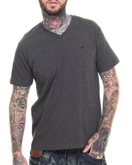 AKOO - Men Grey Universal V-Neck Tee