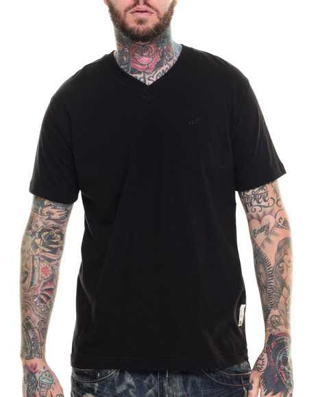 Akoo - Men Black Universal V-Neck Tee