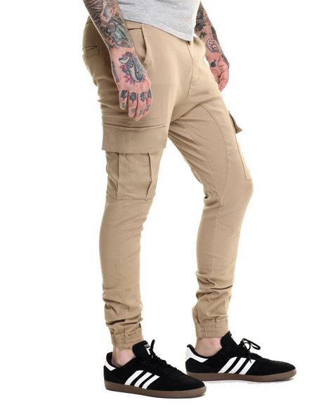 Basic Essentials Men Cargo Jogger Pants Khaki XLarge