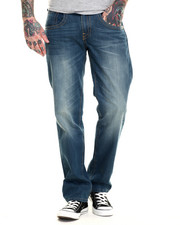 Levi's - 514 Slim Straight Fit Double Stitch Green Mid Jeans
