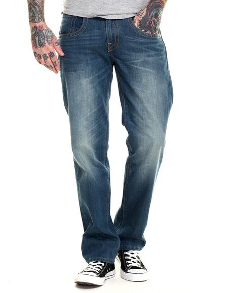 Ur-ID 216272 Levi's - Men Medium Wash 514 Slim Straight Fit Double Stitch Green Mid Jeans