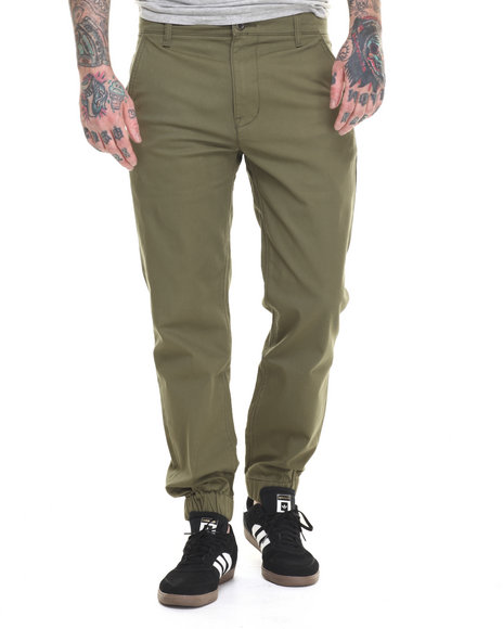Ur-ID 216276 Levi's - Men Olive Chino Jogger Self Cuff Twill Pants