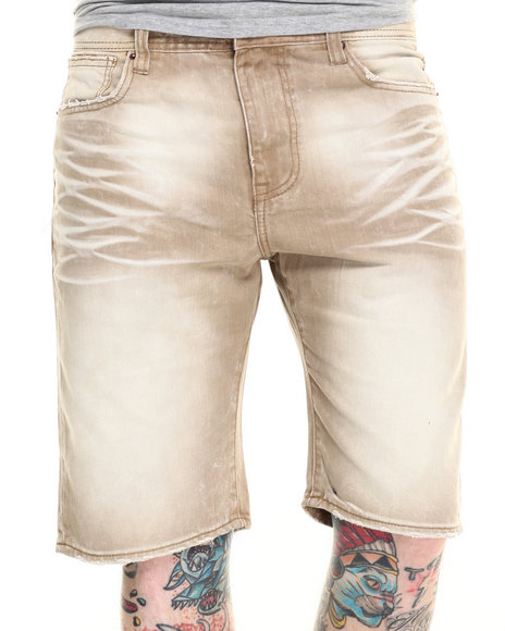 Ur-ID 216279 AKOO - Men Tan Colonel Twill Shorts