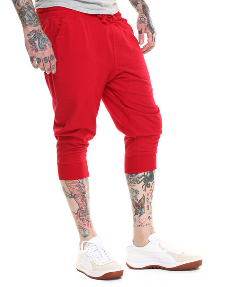 Ur-ID 216280 Buyers Picks - Men Red Classic French Terry Jogger Shorts