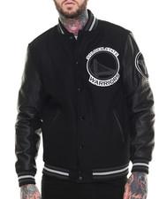 Varsity Jackets - Golden State Warriors Bogue 2 Varsity Jacket w/ Vegan Leather Sleeves
