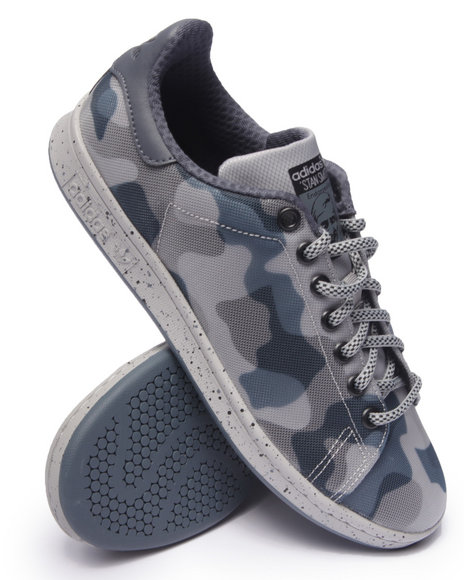 Ur-ID 216295 Adidas - Men Grey Stan Smith Engineered Mesh Camo