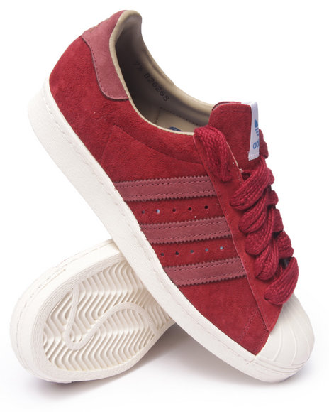 Ur-ID 216297 Adidas - Men Red Superstar 80S Suede