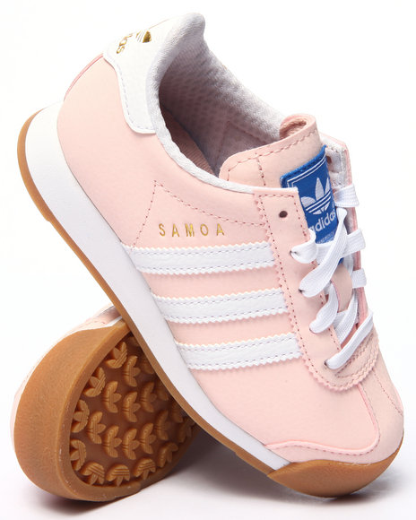 Adidas - Girls Light Pink Samoa C Sneakers (11-3)