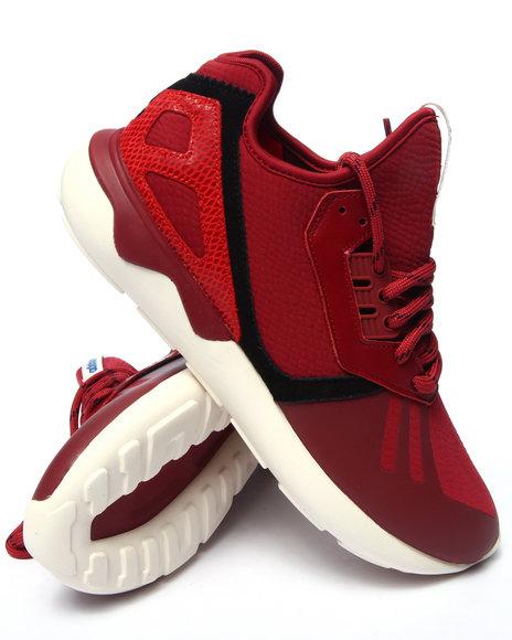 Ur-ID 216191 Adidas - Men Red Tubular Runner Mid
