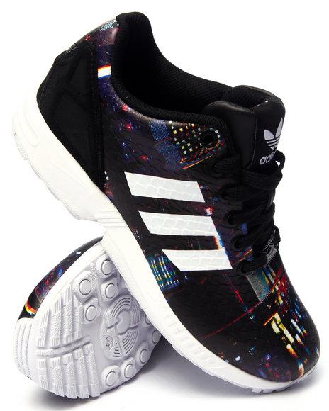 Ur-ID 216196 Adidas - Women Black Z X Flux Tokyo Print Sneakers