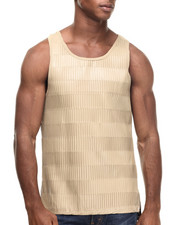 Men - Pleast Full Faux Leather Tank Top