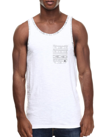 Buyers Picks - Men White Slub Rank Top