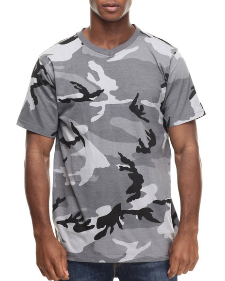 Ur-ID 216332 Buyers Picks - Men Multi Classic Camo V-Neck S/S Tee