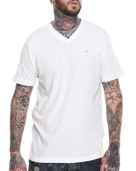 AKOO - Men White Universal V-Neck Tee