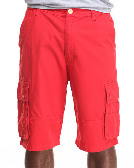 AKOO - Men Red Desert Track Twill Cargo Shorts
