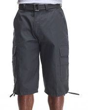 Men - Belted Cotton Cargo Shorts