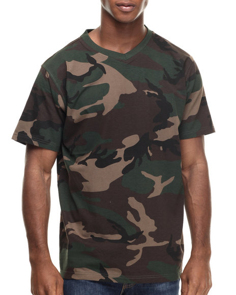 Buyers Picks - Men Camo Classic Camo V-Neck S/S Tee - $20.00