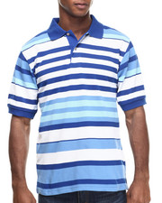 Men - Basic Multi - Stripe Pique S/S Polo