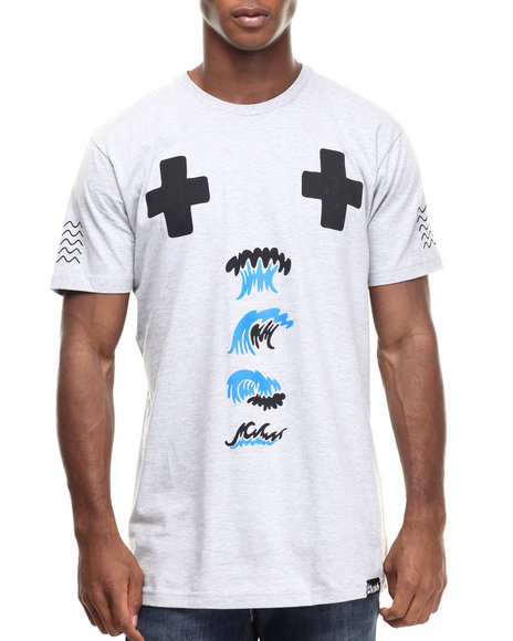 Pink Dolphin - Men Grey Hydro Tribe S/S Tee - $20.99