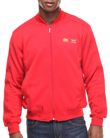 Adidas - Men Red Supercolor By Pharrell Track Jacket